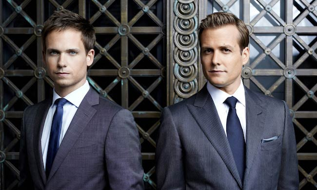 Patrick J. Adams with his co-lead Gabriel Macht