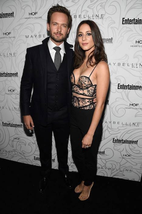 Patrick J. Adams with his wife Troian Bellisario at a pre-SAG Awards Party