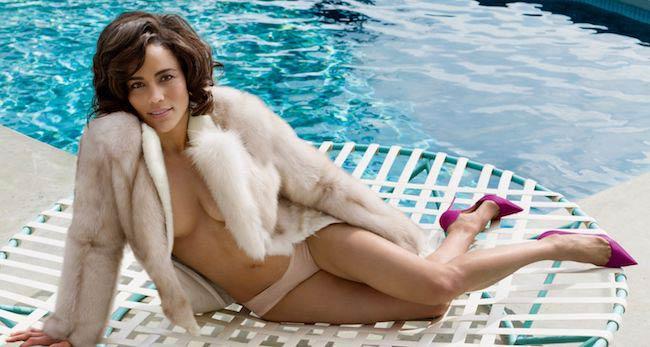 Paula Patton boobs poolside