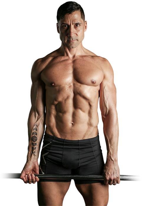 Pete Geracimo shirtless body