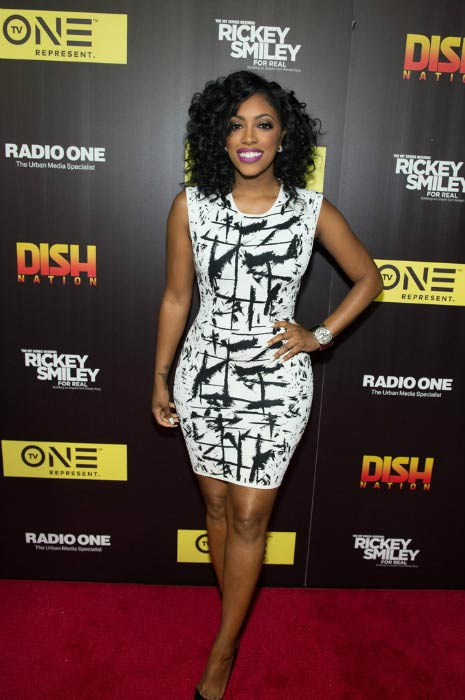 "Porsha Williams at the TV One's ""Rickey Smiley For Real"" season 2 premiere in May 2016"