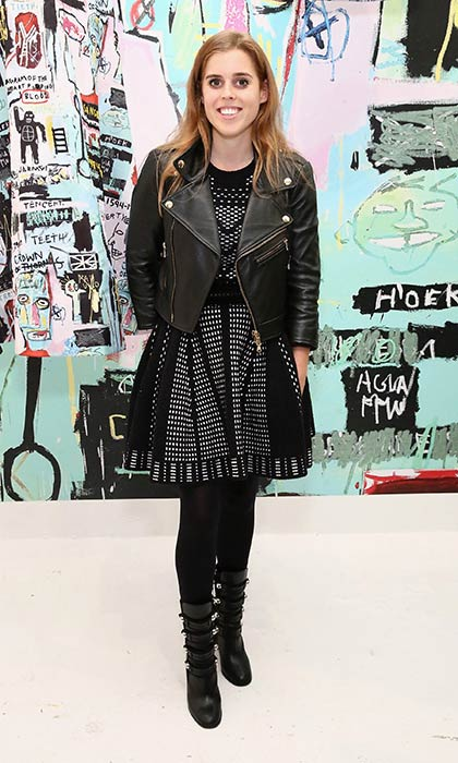 Princess Beatrice at the alice + olivia x Basquiat CFDA Capsule Collection launch party in November 2016