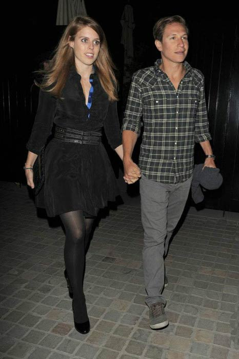 Princess Beatrice and Dave Clark at the Chiltern Firehouse in April 2014