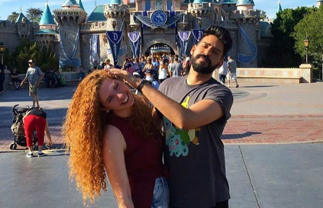 Rahul Kohli and Yasmin in a social media post in July 2016