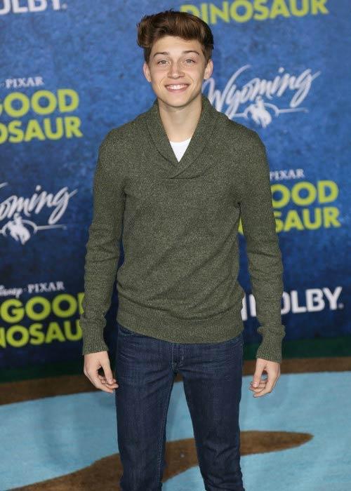 Ricky Garcia at The Good Dinosaur premiere in November 2015