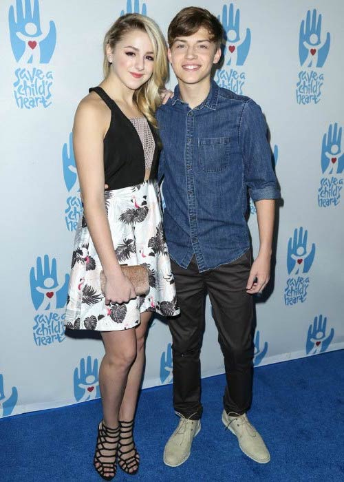 Ricky Garcia and Chloe Lukasiak at the Save a Child's Heart Gala in November 2015