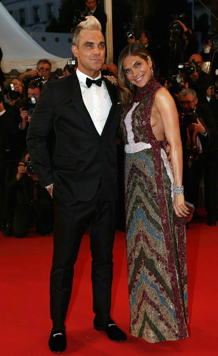 Robbie Williams and Ayda Field at the 68th annual Cannes Film Festival in May 2015