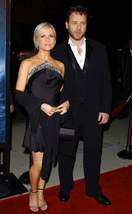 Russell Crowe and Danielle Spencer at the Master And Commander: The Far Side of the World premiere in November 2003