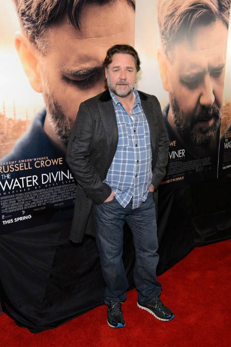 Russell Crowe at the screening of The Water Diviner in April 2015 in Chicago