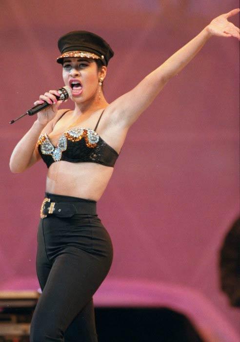 Selena Quintanilla performing at a concert