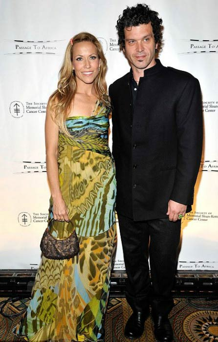 Sheryl Crow and Doyle Bramhall II at the Society of Memorial Sloan-Kettering Cancer Center's spring ball in May 2011