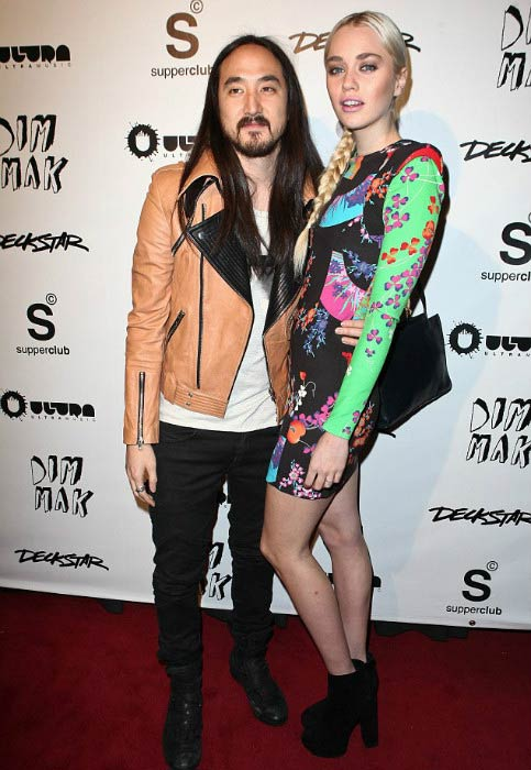 Steve Aoki and Tiernan Cowling at the Los Angeles event in 2012