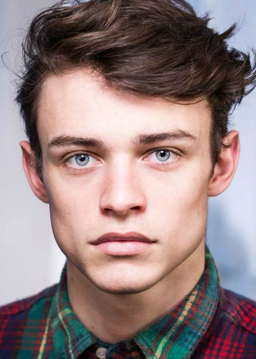 Thomas Doherty in a portfolio picture for the modeling agency
