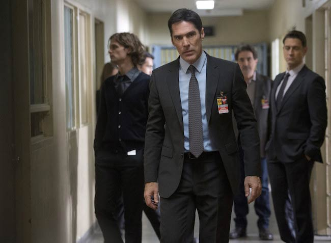 Thomas Gibson in a still from the Criminal Minds