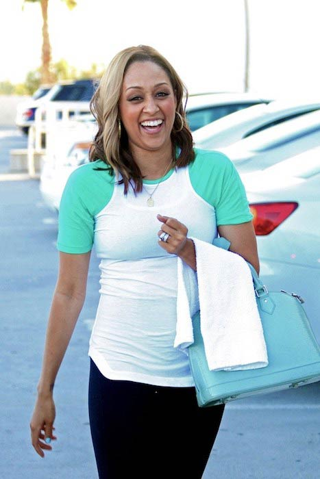 Tia Mowry while leaving Crunch Gym