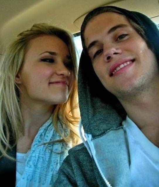 Tony Oller and Emily Osment in a social media picture in 2009