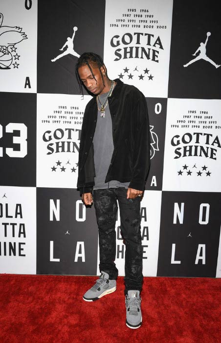 Travis Scott at the Jordan Brand: All-Star Party in February 2017