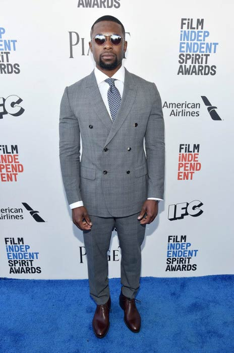 Trevante Rhodes at the Film Independent Spirit Awards in February 2017