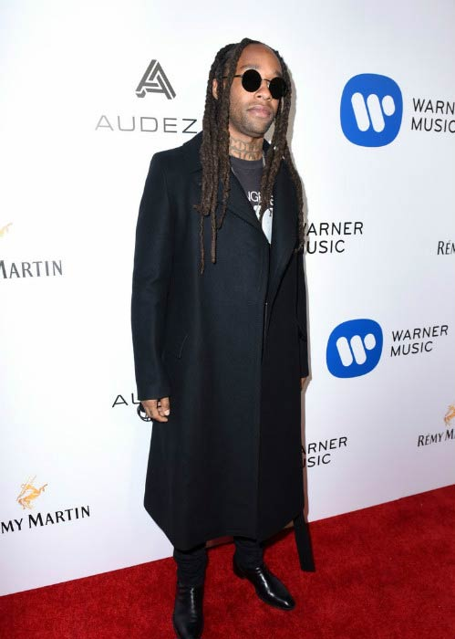 Ty Dolla Sign at the Warner Music Group GRAMMY Party in February 2017