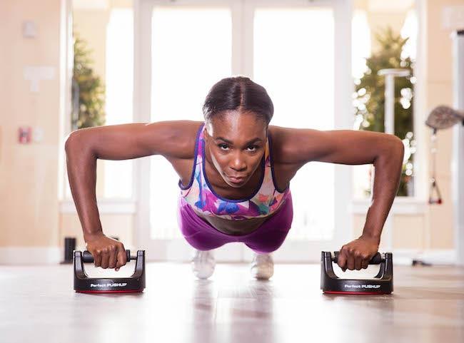Venus Williams doing pushups
