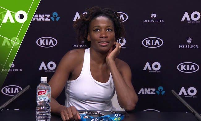 Venus Williams during Australian Open 2017 press conference