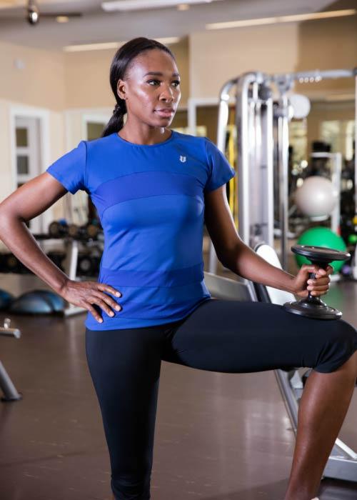 Venus Williams in the gym