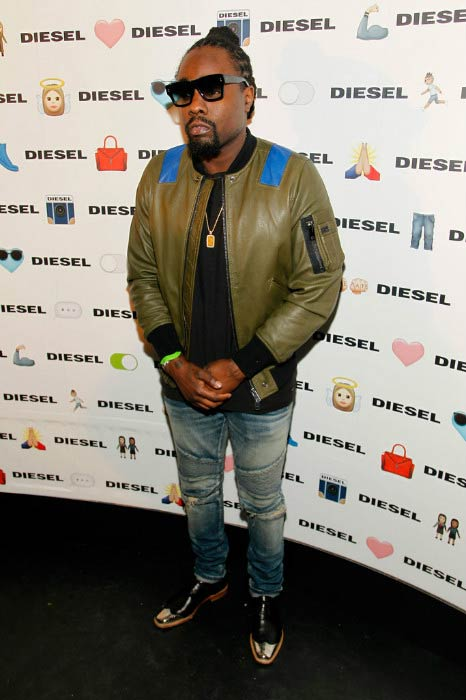 Wale at the DIESEL's Madison Avenue flagship in February 2016