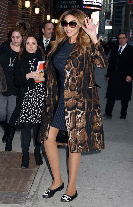 Wendy Williams going for Late Show with Stephen Colbert in New York on February 6, 2017