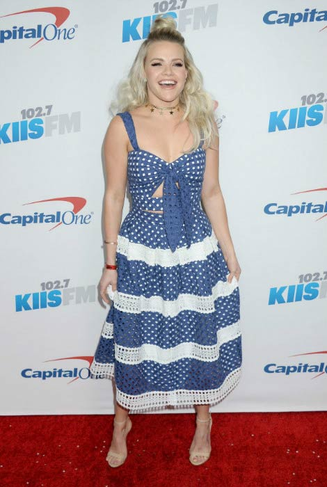 Witney Carson at the 102.7 KIIS FM's Jingle Ball in December 2016