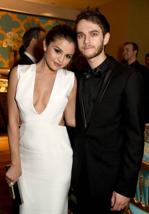 Zedd and Selena Gomez at the Vanity Fair Oscars Party in January 2015