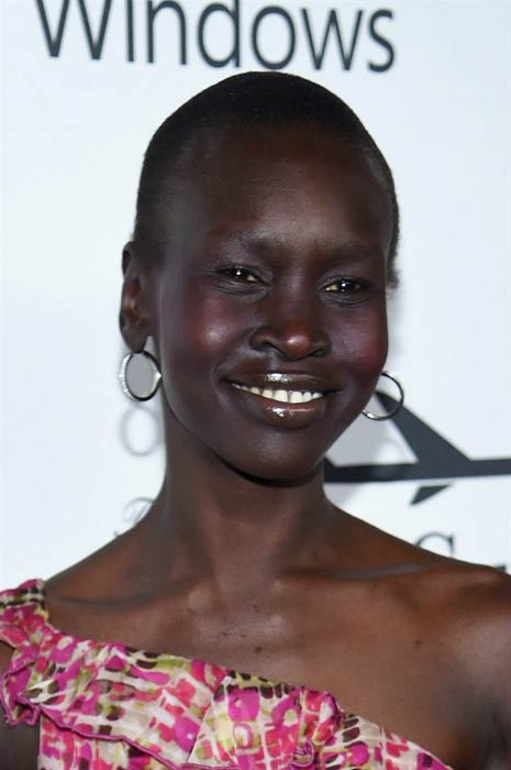 Alek Wek at the 7th Annual amfAR Inspiration Gala in June 2016
