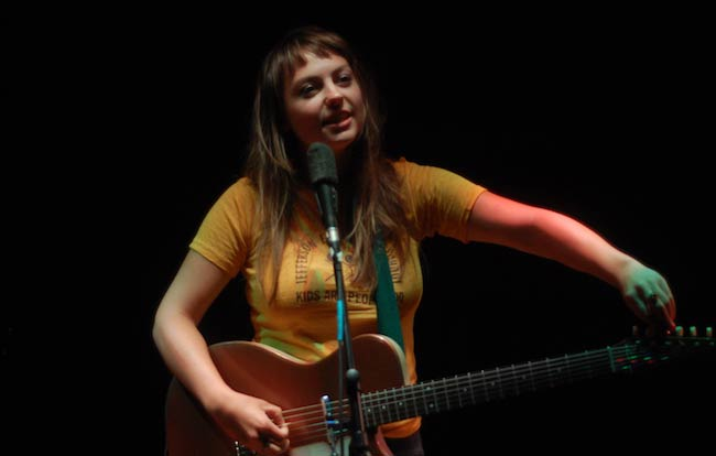 Angel Olsen performing live at a concert held at Zanzabar, Louisville in 2016