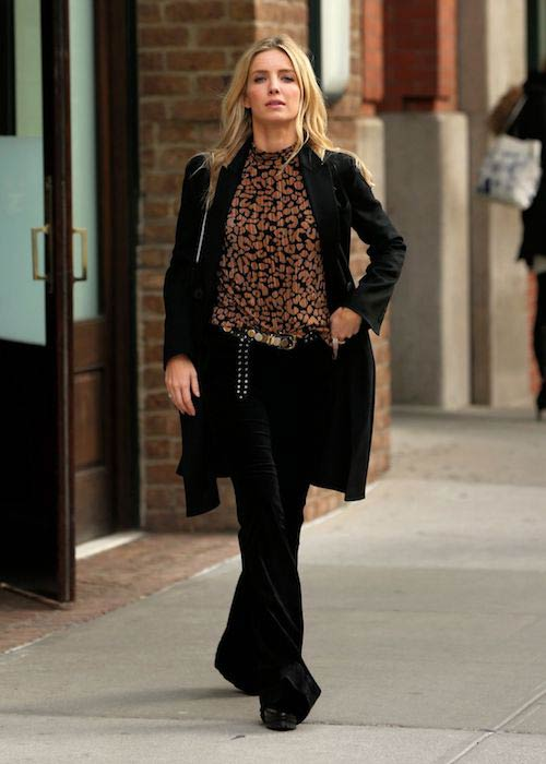 Annabelle Wallis while walking out of her New York hotel in March 2017
