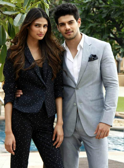 Athiya Shetty and Sooraj Pancholi in a photoshoot for Hero movie promotion in 2015