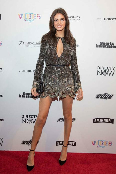 Bo Krsmanovic at the VIBES by Sports Illustrated Swimsuit launch festival in February 2017