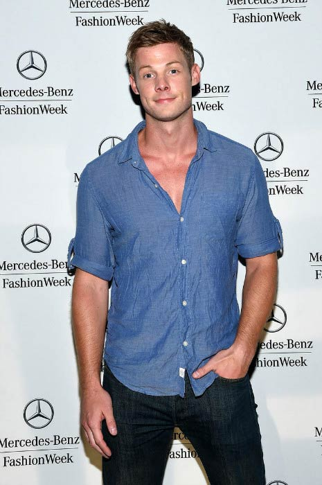 Brandon Jones at the Mercedes-Benz Lounge during Mercedes-Benz Fashion Week in September 2014