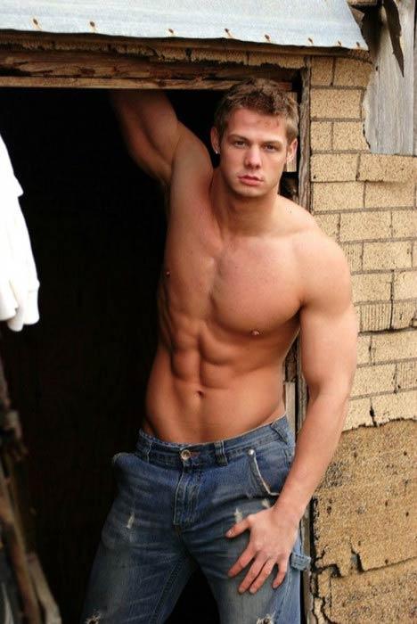 Brandon Jones poses for a modeling photoshoot in 2014