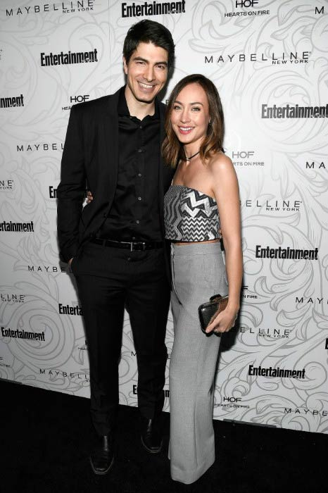 Brandon Routh and Courtney Ford at the Entertainment Weekly Celebration of SAG Award Nominees in January 2017