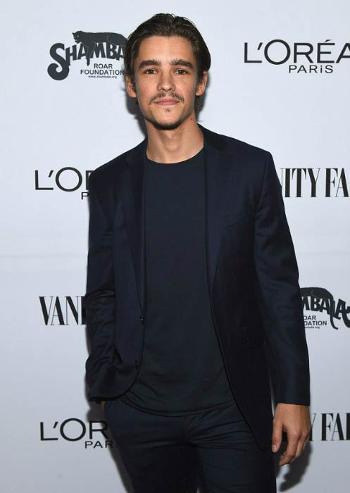 Brenton Thwaites at the Vanity Fair and L'Oreal Paris Toast to Young Hollywood in February 2017