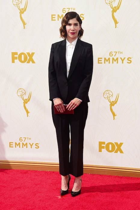 Carrie Brownstein at the 2015 Primetime Emmy Awards