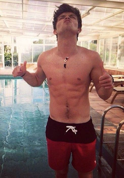 Connor Ball shirtless body