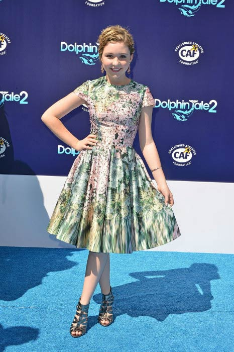 Cozi Zuehlsdorff at the premiere of Dolphin Tale 2 in September 2014
