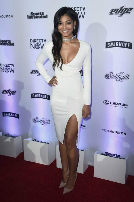Danielle Herrington at the Sports Illustrated Swimsuit NYC launch event in February 2017