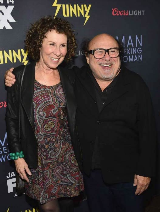 Danny DeVito and Rhea Perlman at the premiere of FXX's Man Seeking Woman in January 2015