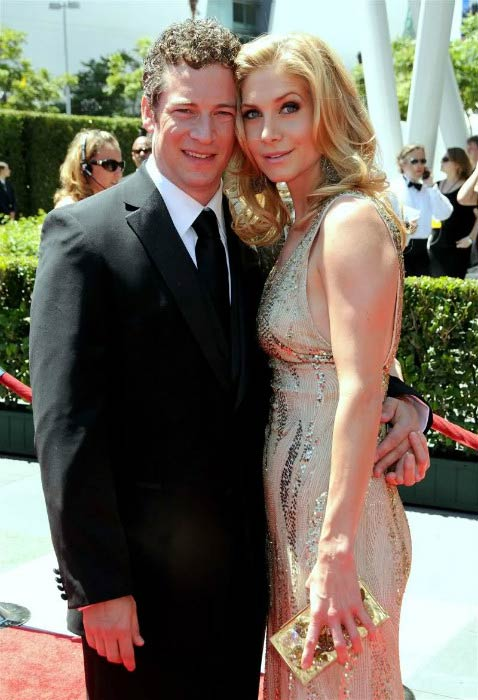 Elizabeth Mitchell and Chris Soldevilla at the Creative Arts Emmy Awards in August 2010