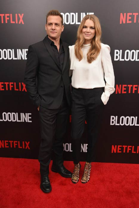 Gabriel Macht and Jacinda Barrett at the Bloodline premiere in March 2015