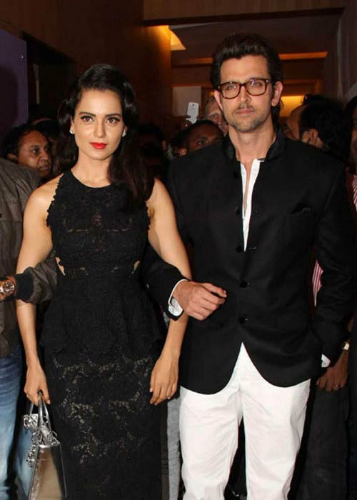 Hrithik Roshan and Kangana Ranaut at the Krrish 3 movie event in 2013