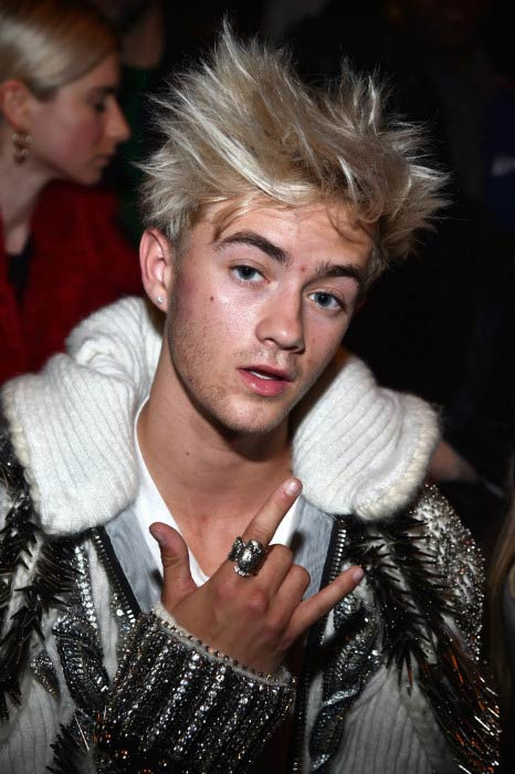 Jack Johnson at the Balmain show during the Paris Fashion Week Womenswear in March 2017