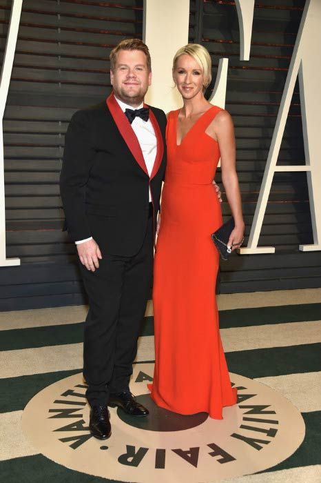 James Corden and Julia Carey at the 2017 Vanity Fair Oscar Party