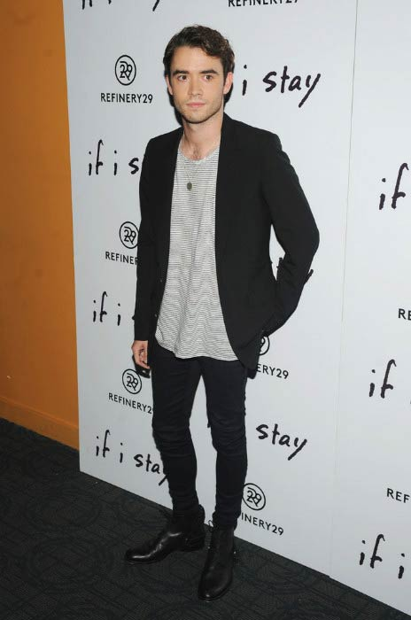 "Jamie Blackley at the ""If I Stay"" New York Premiere in August 2014"